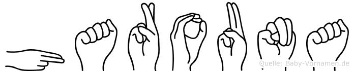 Harouna im Fingeralphabet der Deutschen Gebärdensprache