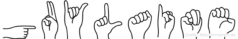 Guylaine im Fingeralphabet der Deutschen Gebärdensprache