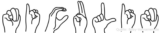 Niculin im Fingeralphabet der Deutschen Gebärdensprache