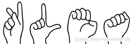 Klea in Fingersprache für Gehörlose