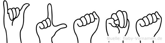 Ylana im Fingeralphabet der Deutschen Gebärdensprache