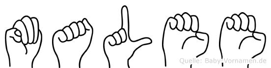 Malee im Fingeralphabet der Deutschen Gebärdensprache
