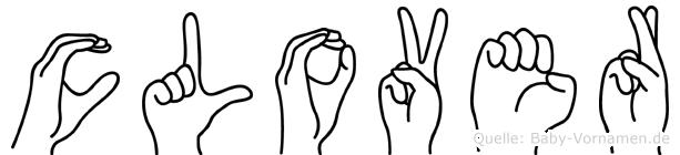 Clover im Fingeralphabet der Deutschen Gebärdensprache