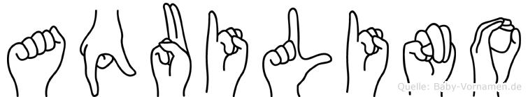 Aquilino in Fingersprache für Gehörlose