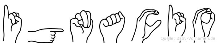 Ignacio in Fingersprache für Gehörlose