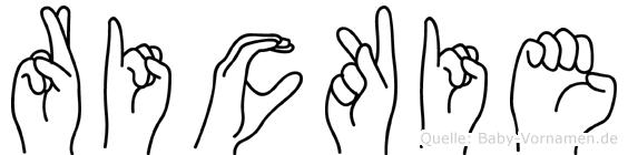 Rickie in Fingersprache für Gehörlose