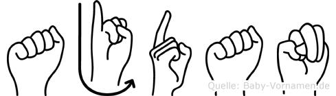 Ajdan im Fingeralphabet der Deutschen Gebärdensprache