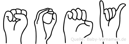 Soey im Fingeralphabet der Deutschen Gebärdensprache