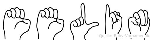 Eelin im Fingeralphabet der Deutschen Gebärdensprache
