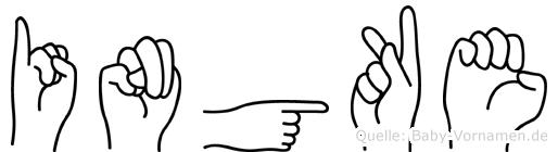 Ingke in Fingersprache für Gehörlose