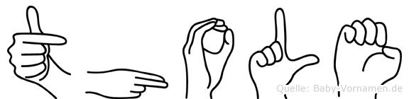 Thole in Fingersprache für Gehörlose