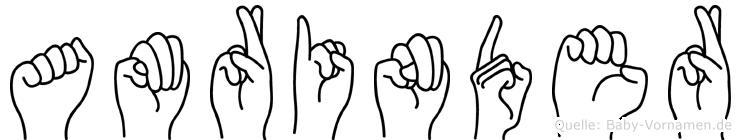 Amrinder in Fingersprache für Gehörlose