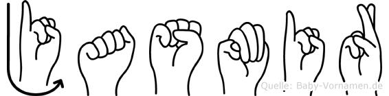 Jasmir im Fingeralphabet der Deutschen Gebärdensprache