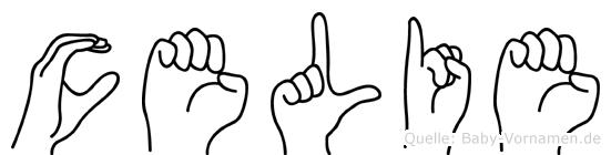 Celie im Fingeralphabet der Deutschen Gebärdensprache