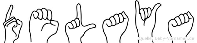 Delaya in Fingersprache für Gehörlose