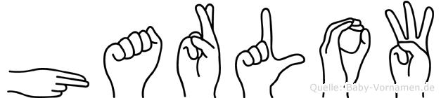 Harlow in Fingersprache für Gehörlose