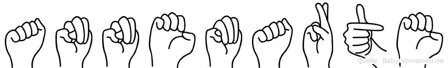 Annemarte im Fingeralphabet der Deutschen Gebärdensprache