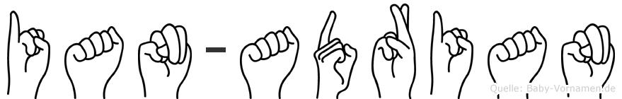 Ian-Adrian im Fingeralphabet der Deutschen Gebärdensprache