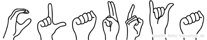 Claudya im Fingeralphabet der Deutschen Gebärdensprache