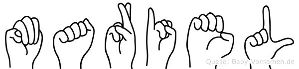 Mariel in Fingersprache für Gehörlose