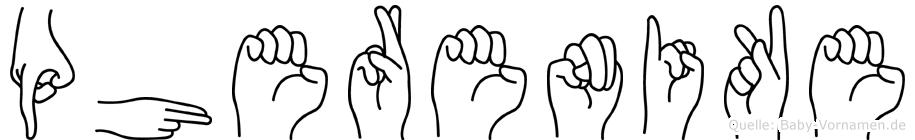 Pherenike in Fingersprache für Gehörlose