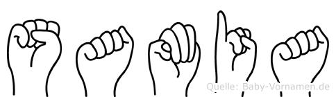 Samia in Fingersprache für Gehörlose