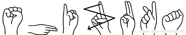 Shizuka im Fingeralphabet der Deutschen Gebärdensprache