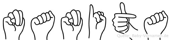 Nanita im Fingeralphabet der Deutschen Gebärdensprache