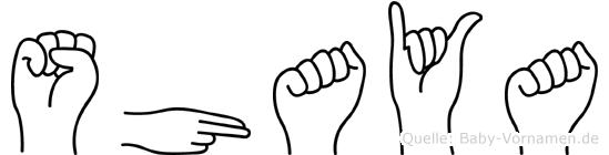 Shaya in Fingersprache für Gehörlose