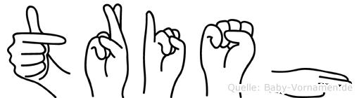 Trish in Fingersprache für Gehörlose