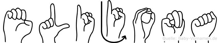Elijona im Fingeralphabet der Deutschen Gebärdensprache