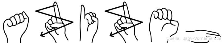 Azizeh in Fingersprache für Gehörlose
