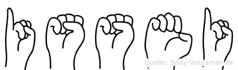 Issei in Fingersprache für Gehörlose