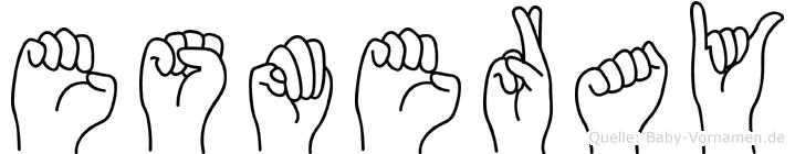 Esmeray im Fingeralphabet der Deutschen Gebärdensprache