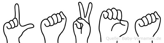 Lavea in Fingersprache für Gehörlose