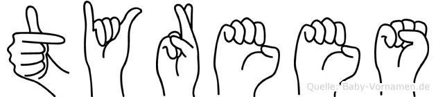 Tyrees in Fingersprache für Gehörlose