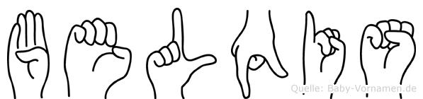 Belqis in Fingersprache für Gehörlose