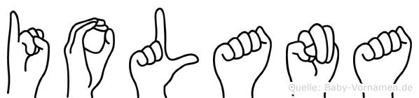 Iolana in Fingersprache für Gehörlose