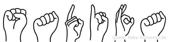 Sadifa in Fingersprache für Gehörlose