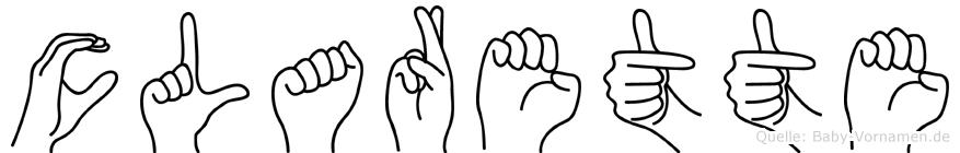 Clarette im Fingeralphabet der Deutschen Gebärdensprache
