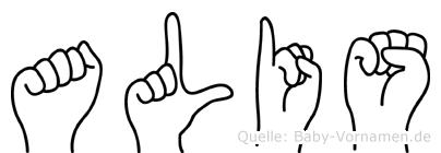 Alis in Fingersprache für Gehörlose