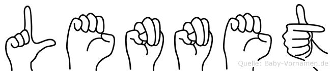 Lennet im Fingeralphabet der Deutschen Gebärdensprache