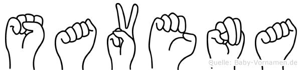 Savena im Fingeralphabet der Deutschen Gebärdensprache