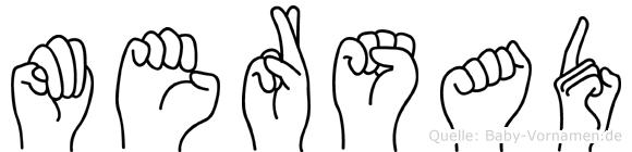 Mersad im Fingeralphabet der Deutschen Gebärdensprache