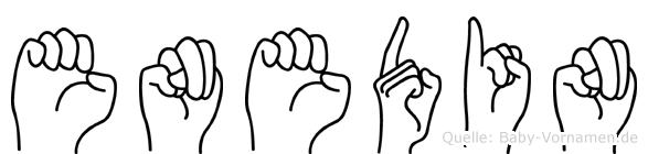 Enedin in Fingersprache für Gehörlose
