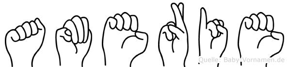 Amerie in Fingersprache für Gehörlose