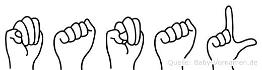 Manal in Fingersprache für Gehörlose