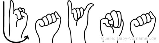 Jayna im Fingeralphabet der Deutschen Gebärdensprache