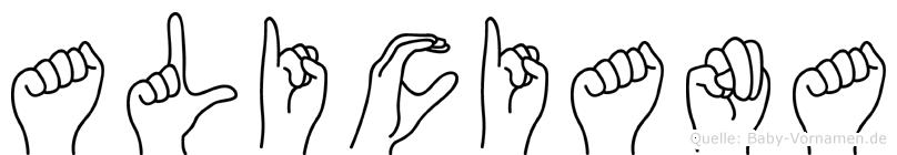 Aliciana in Fingersprache für Gehörlose