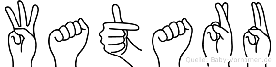 Wataru im Fingeralphabet der Deutschen Gebärdensprache